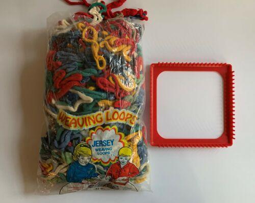 Vintage Weaving Pot Holder Plastic Loom and FULL 16 oz Bag of Loops ~ Buy it Now