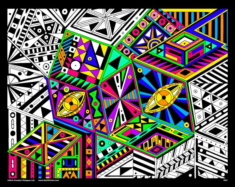 View From The Top - Large 16x20 Inch Fuzzy Velvet Coloring Poster