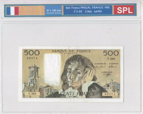 Ticket From 500 Francs Pascal 1992 Spl