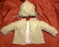 Antico Vestito Da Battesimo In Pizzo Cantu' Fatto Al Tombolo Del 1800 - Xix Sec -  - ebay.it