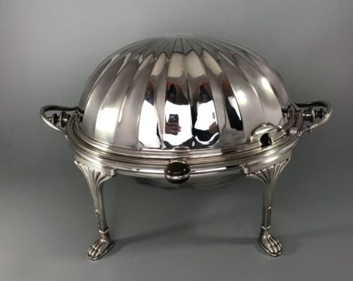 Antique Silver Plated Breakfast Warming Dish By Mappin & Webb DZX