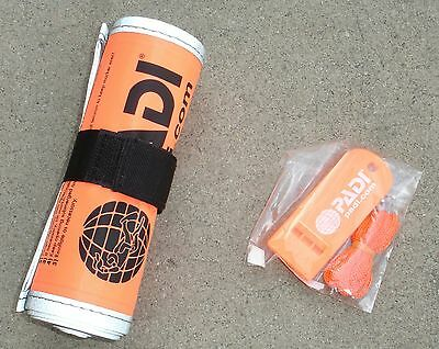 NEW in package! PADI surface marker buoy & whistle