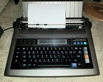 Panasonic Electronic Typewriter Kx-r440 . W Spell Check Works Great