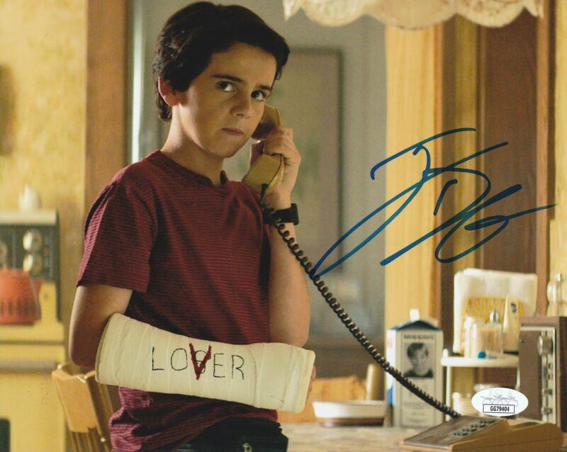 Jack Dylan Grazer Autograph 8x10 Photo IT Eddie Kaspbrak Signed JSA COA