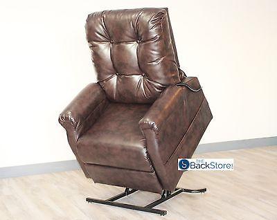 New ChestNut Vinyl Easy Comfort FC-201 Power Electric Lift Chair Motion - Vinyl Power Lift