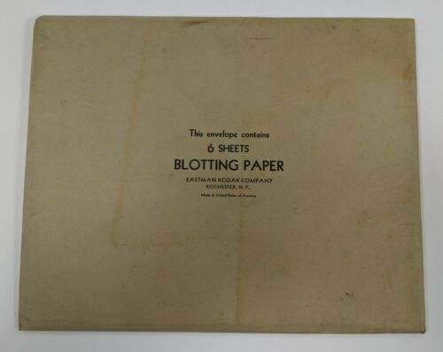 VTG Eastman Kodak Photo Blotter Blotting Paper 10x12 6 sheets