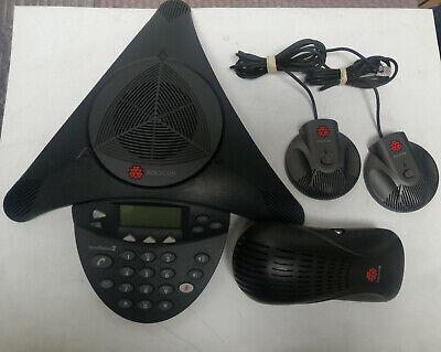 Polycom Soundstation2 Conference Phone 2201-16200-601 Complete Set