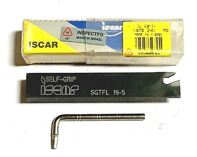 Iscar Sgtfl 19-5 Indexable Turning Grooving Cut Off Self Grip Tool Holder