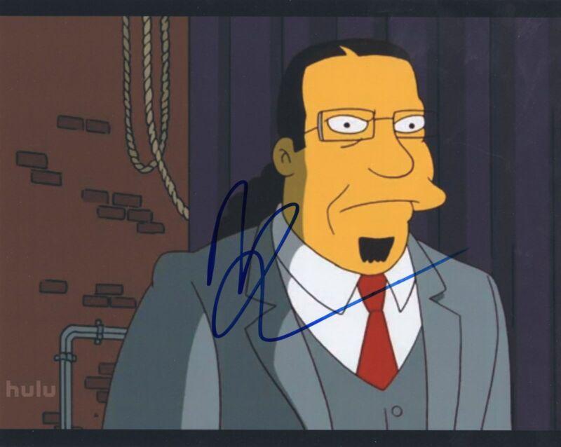 Penn Jillette signed 8x10 Photograph w/COA The Simpsons TV Show Teller #1