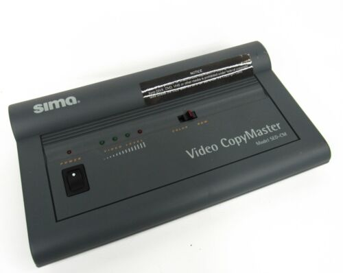Sima Video CopyMaster Automatic Video Enhancer Duplicator SED-CM No Power Cord