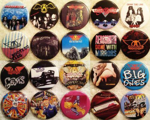 Aerosmith PIN BUTTON LOT 20 Album Discography Steve Tyler Joe Perry Rare