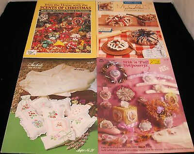 LOT OF 4 POTPOURRI CRAFTS BOOKS SCENTED PROJECTS FOR CHRISTMAS AND MORE 10/2016