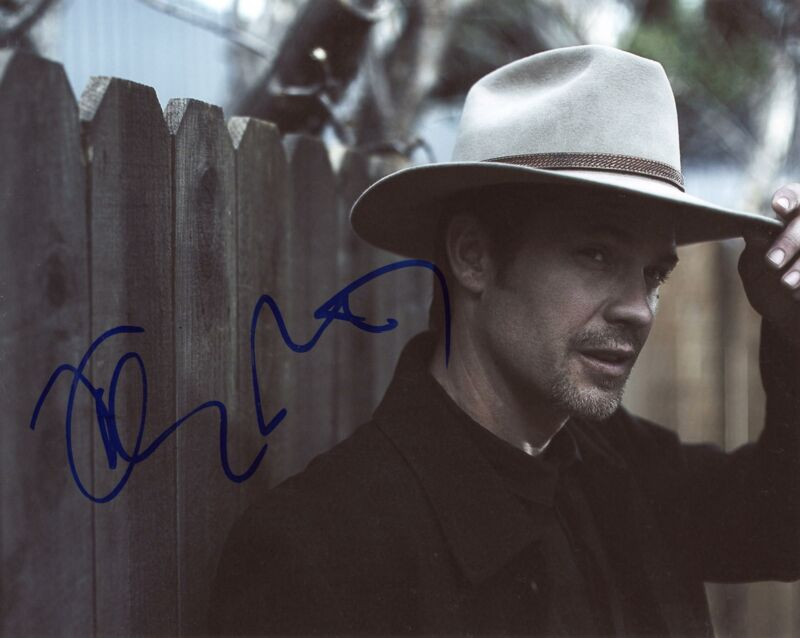 """Timothy Olyphant """"Justified"""" AUTOGRAPH Signed 8x10 Photo C"""