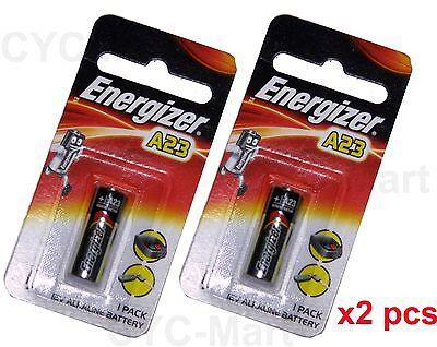 2 pcs x Energizer A23 (BP1) Car Remote Batteries FREE POST World-wide