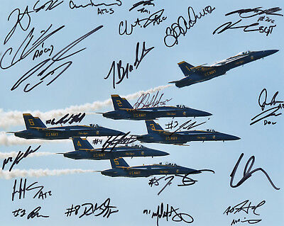 Blue Angels 2018 COMBO COA SIGNED RARE 8x10 PHOTO PROOF AUTOGRAPHED U.S. Navy