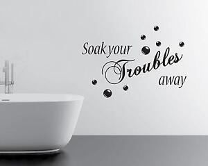 bathroom wall decals  ebay, Bathroom decor