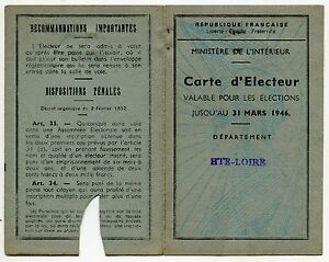 Carte d electeur mairie d yssingeaux 1945 ebay for Fenetre yssingeaux