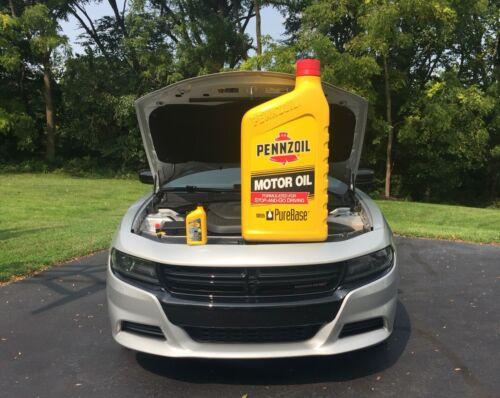 EXTREMELY RARE - GIANT PENNZOIL MOTOR OIL ADVERTISING / PROMOTION QUART BOTTLE