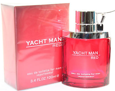 Yacht Man Red by Myrurgia 3.4/3.3 oz EDT Spray for Men - New in box for sale  Shipping to India