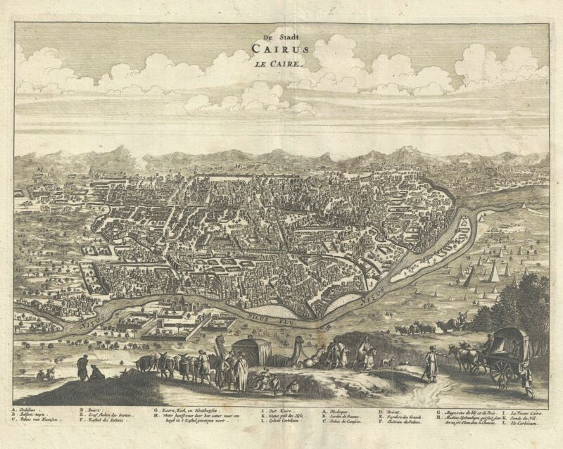 1686 Dapper View of Cairo, Egypt