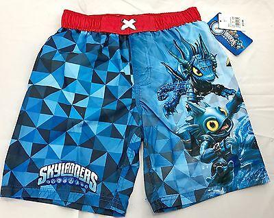 Skylander Boy (Skylanders Boys Swimwear Swim Trunks Red Blue Character Shorts X-Small Small)