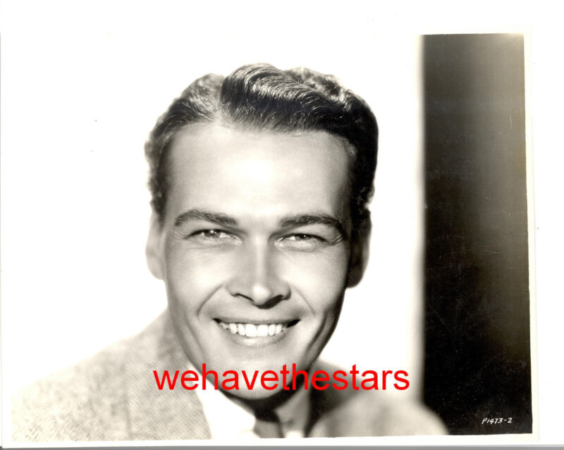 Vintage Edward Woods QUITE HANDSOME EARLY 30s LB Publicity Portrait