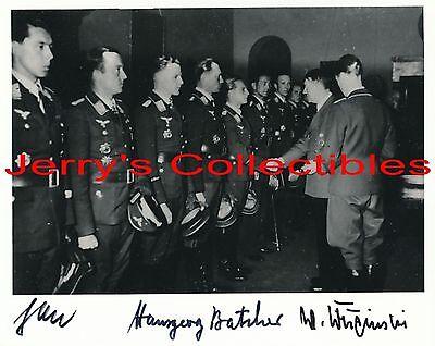 Jabs, Batcher, Krupinski 3X signed award ceremony photo. Luftwaffe Aces,Germany