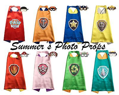Paw Patrol Logo Cape and Mask Party Favors Superhero Capes - Capes And Masks