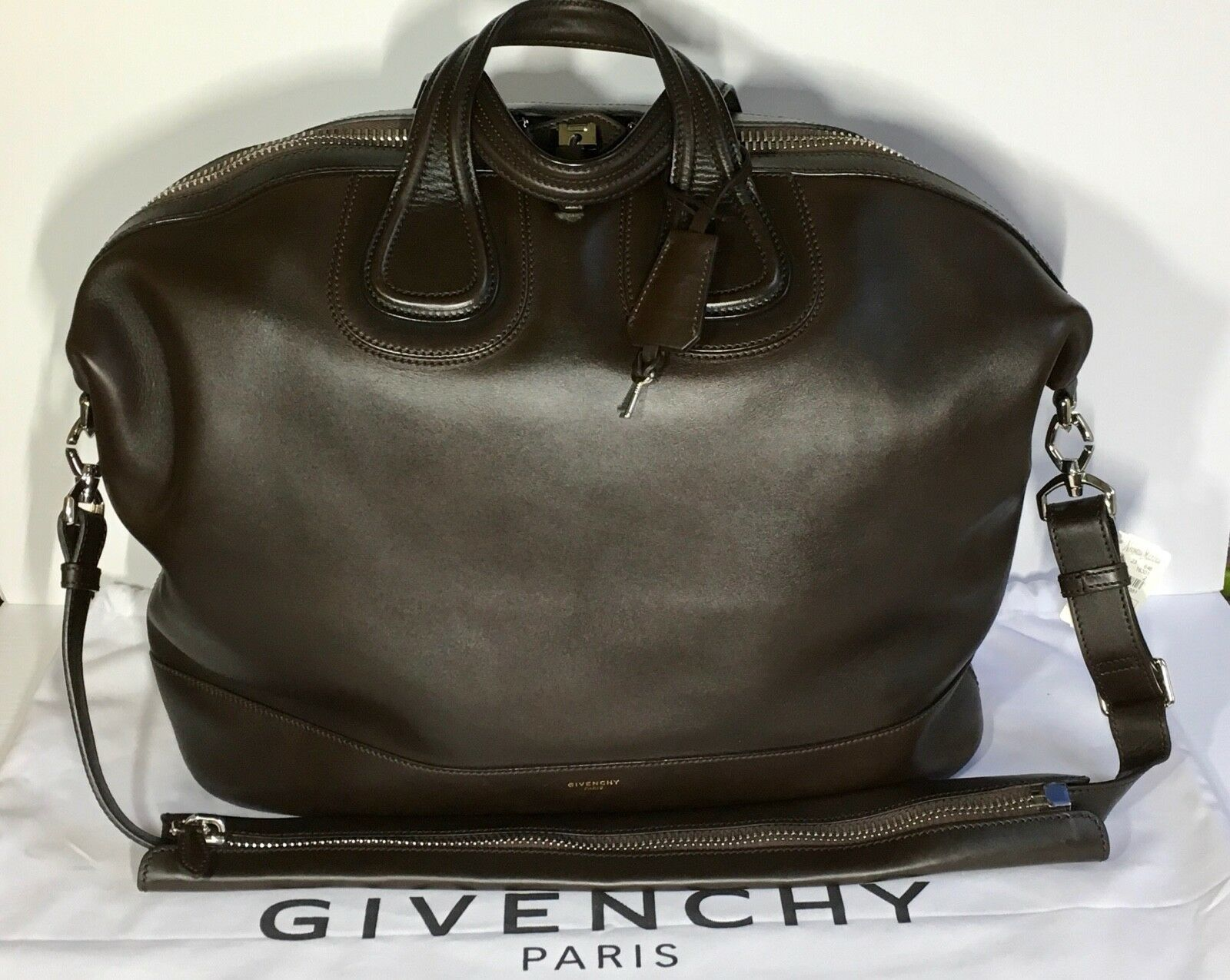 dc39d67300ca Givenchy Nightingale Men's Leather Satchel Bag Brown $3,990 New  w/tag,dustbag фото