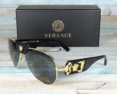 VERSACE VE2150Q 100287 Gold Gray 62 mm Men's Sunglasses