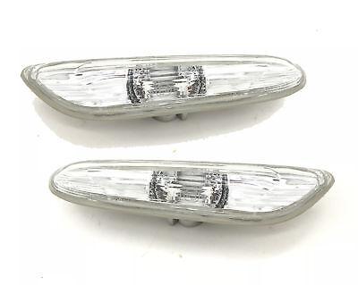 Paar Seitenmarkierung Licht Repeater Klar Dreieckig für BMW E90 E91 E92 E93 E60 - Klar, Drei Licht