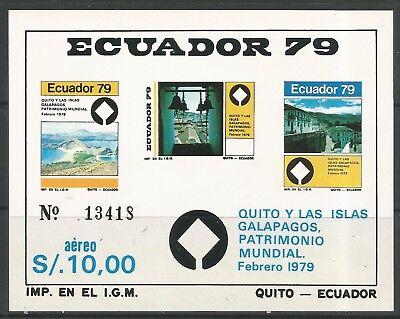 Stamps Ecuador  1997  Galapagos Islands Miniature Sheet   Sg  Ms1747  Mnh