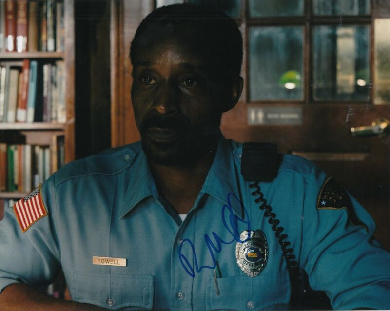 ROB MORGAN signed (STRANGER THINGS) TV SHOW 8X10 photo *Officer Powell* W/COA #2