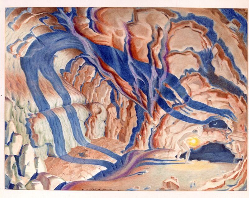 Szukalski 1973 color COPERNICUS print