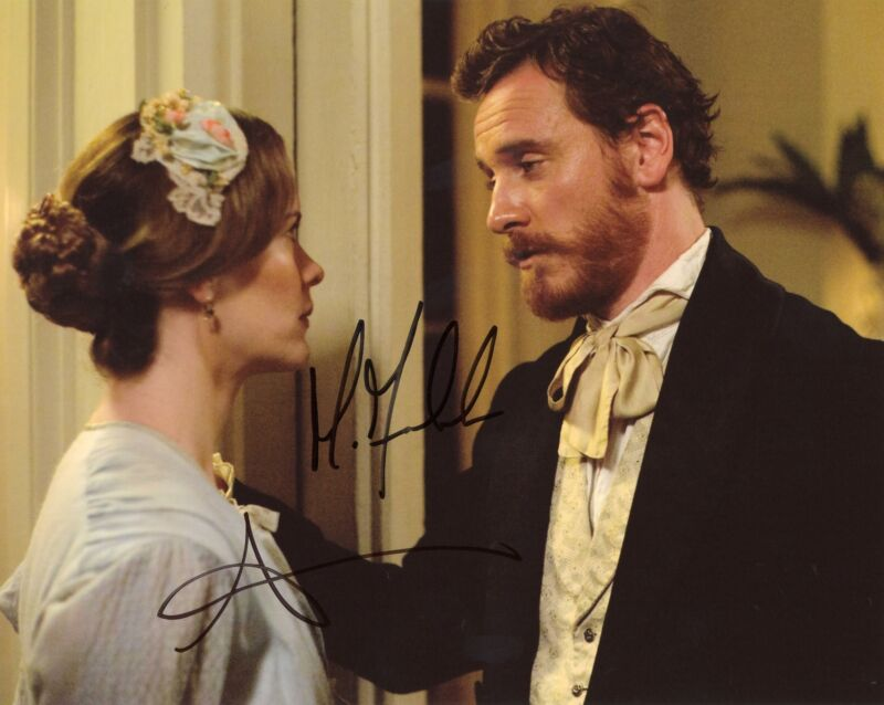 "Michael Fassbender & Sarah Paulson ""12 Years a Slave"" AUTOGRAPHS Signed Photo"