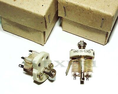 Air Variable Ceramic Capacitor 4-50pf 400v Silver Plated Ussr Military Nos