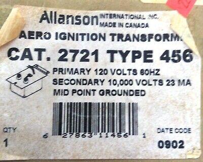 Allanson Ignition Transformer Cat 2721 Type 456