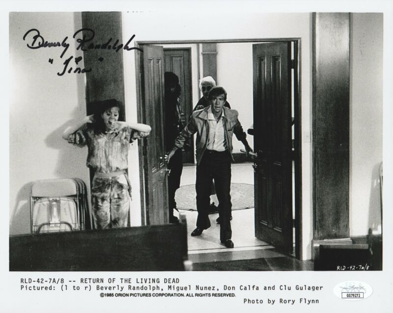 Beverly Randolph Autograph 8x10 Photo Return of the Living Dead Signed JSA COA 2
