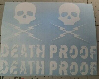 Death Proof decal set. Motorcycle helmet decals, Honda Yamaha Suzuki Harley  Harley Motorcycle Decals
