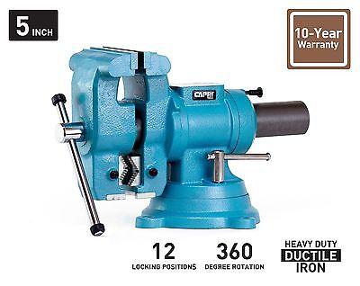 Capri Tools 5 Bench Vise 360 Rotation Base And Head
