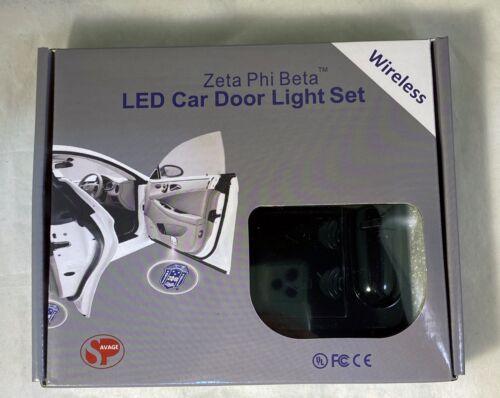 Zeta Phi Beta Sorority LED Car Door Light- Set of 2-New!