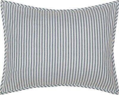 Pillow Sham Denim Blue Ticking Stripe Cotton Farmhouse Bedding Sawyer Mill - Denim, Pillow Sham