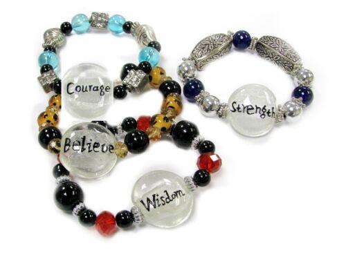 Wholesale Lots Bracelets Woman Stretch Bracelet Message 12 pcs US Seller