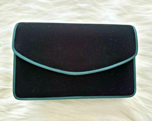 VALERIE STEVENS Vintage Emerald Green Velvet Evening Formal Wear Handbag *Prom*