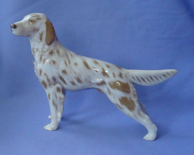 ORANGE BELTON ENGLISH SETTER ROYAL COPENHAGEN B&G DENMARK DOG