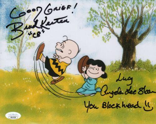Angela Lee Sloan & Brad Kesten Autograph Signed 8x10 Photo - Peanuts (JSA COA)