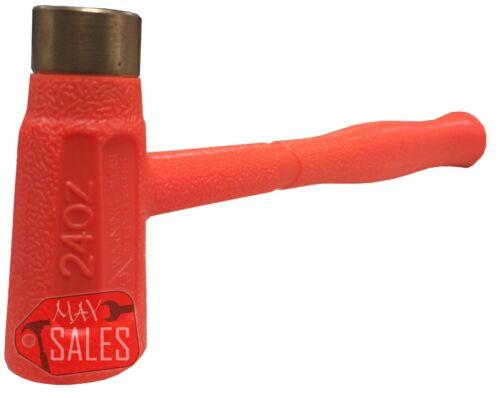 Dead Blow Hammer Multi-Purpose Dual-Face Hammer Brass / ABS Head Hammer 24oz