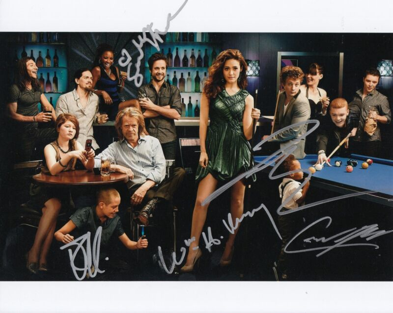 SHAMELESS cast signed 8X10 photo (MACY-MONAGHAN- HAMPTON -WHITE- CUTKOSKY) W/COA