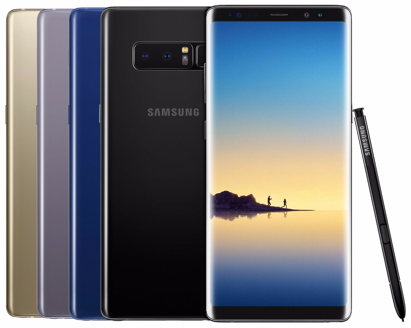 "Samsung Galaxy Note 8 128GB SM-N950F (FACTORY UNLOCKED) 6.3"" Black Gold Gray"