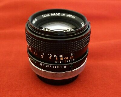 ✅Serviced✅ Canon FD 50mm f1.4 SSC Fast Prime Lens Sony Olympus Panasonic